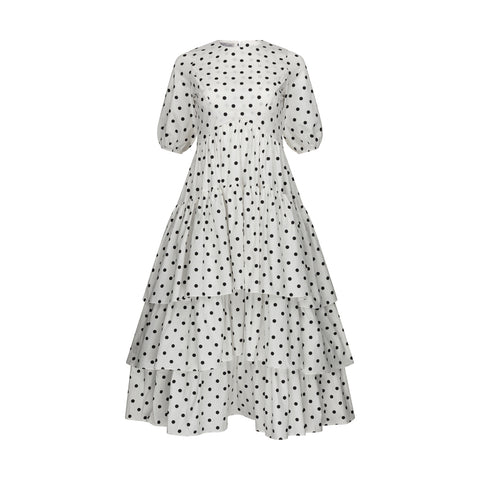 POLKA DOT DINE DRESS