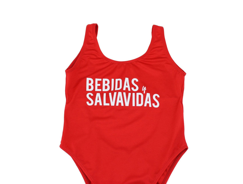 Bebidas y Salvavidas One Piece Swimsuit