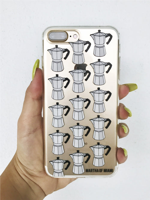 Cafetera Cuban Coffee iPhone Case