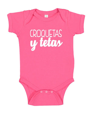 Load image into Gallery viewer, Croquetas y Tetas Onesie - Babies