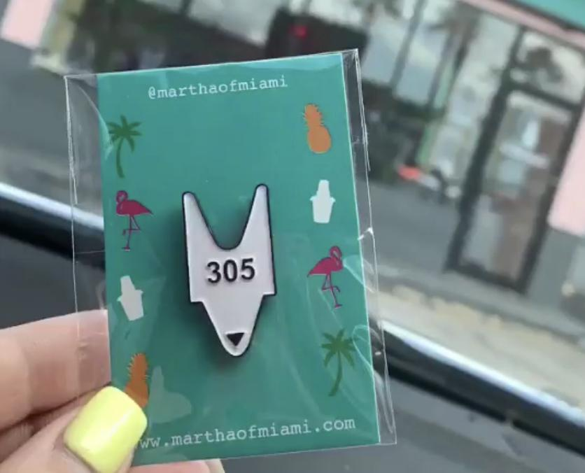 305 Ticket Pin