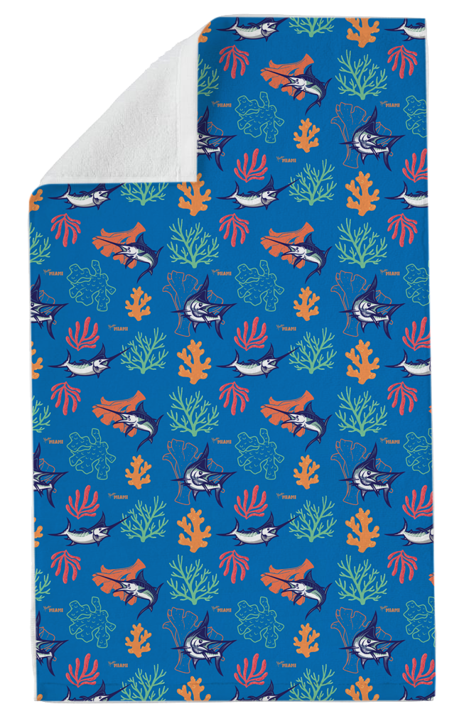 Coral Way Beach Towel