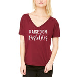 Raised On Pastelitos Slouchy Tee - Women