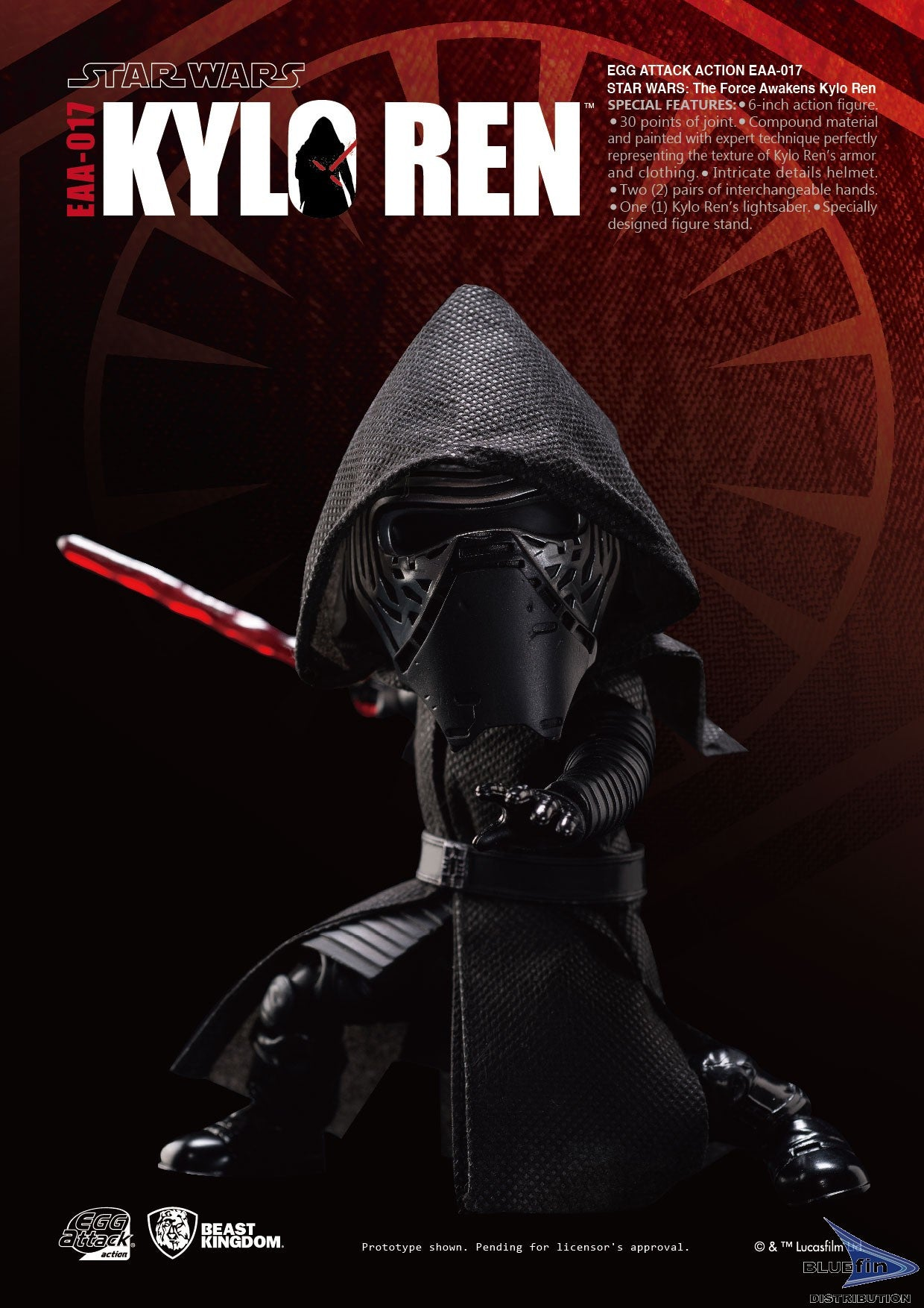 Beast Kingdom EAA-017 Kylo Ren Egg Attack Action BKT10707