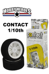Contact 1/10 Front 26mm 32 Shore Nylon Rim On Road Foam Tires CONJ13203
