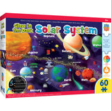 Masterpieces Puzzle Educational Maps - Solar System Glow 60 Piece Jigsaw Puzzle MST11816
