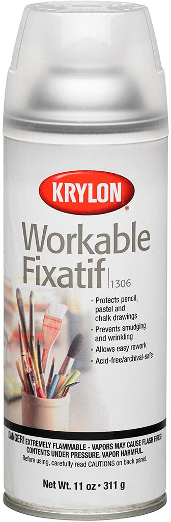 Krylon Workable Fix Glaze 11 oz KRY1306