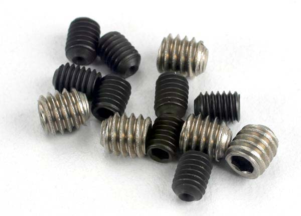 Traxxas Set (Grub) Screws, 3x4mm (8)/ 4x4mm (Stainless) (4) TRA1548
