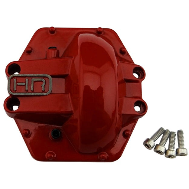 Hot Racing Metal Low Profile AR60 Diff Cover (Red) - Yeti Wraith AX10 HRAWRA12CR02