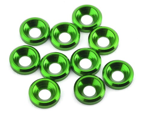 175RC Aluminum Flat Head High Load Spacer (Green) (10) 175-12125