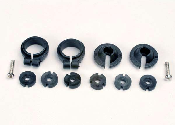 Traxxas Piston Head Set, (2 Sets of 3 Types)/ Shock Collars (2)/ Spring Retainers (2) TRA1965
