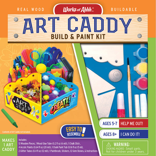 Masterpieces Art Caddy Buildable Wood Paint Kit MST21589