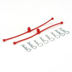 Dubro Body Klip Retainers Red (2) DUB2248