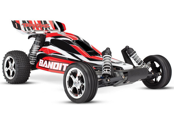 Traxxas Bandit: 1/10 Scale Off-Road Buggy RTR w TQ 2.4 Radio System and XL-5 E.S.C. (Fwd/Rev). Includes: 7-Cell NiMH 3000mAh Traxxas® Battery TRA24054-1-REDX