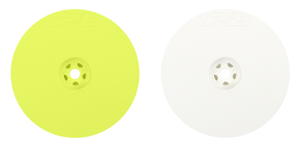 "Pro-Line Velocity 2.2"" Hex Rear Yellow Wheels (2) for 22, D413, RB6, B44.3, B5 and B5m"