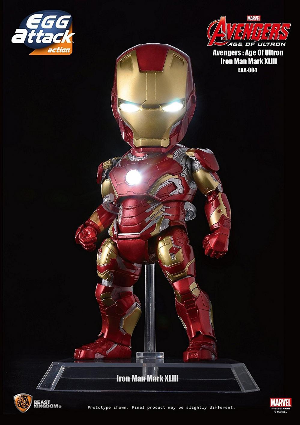 Beast Kingdom Egg Attack Action Iron Man Mark 43 Avengers Age of Ultron Figure BKT28979