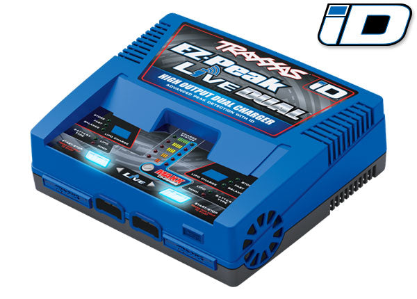 Traxxas Charger, EZ-Peak Live Dual, 200W, NiMH/LiPo with iD Auto Battery Identification TRA2973