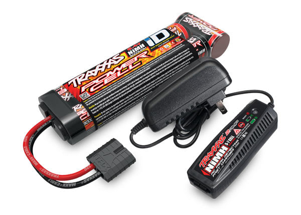 Traxxas Battery/Charger Completer Pack (includes #2969 2-amp NiMH Peak Detecting AC Charger (1), #2923X 3000mAh 8.4V 7-Cell NiMH Battery (1)) TRA2983