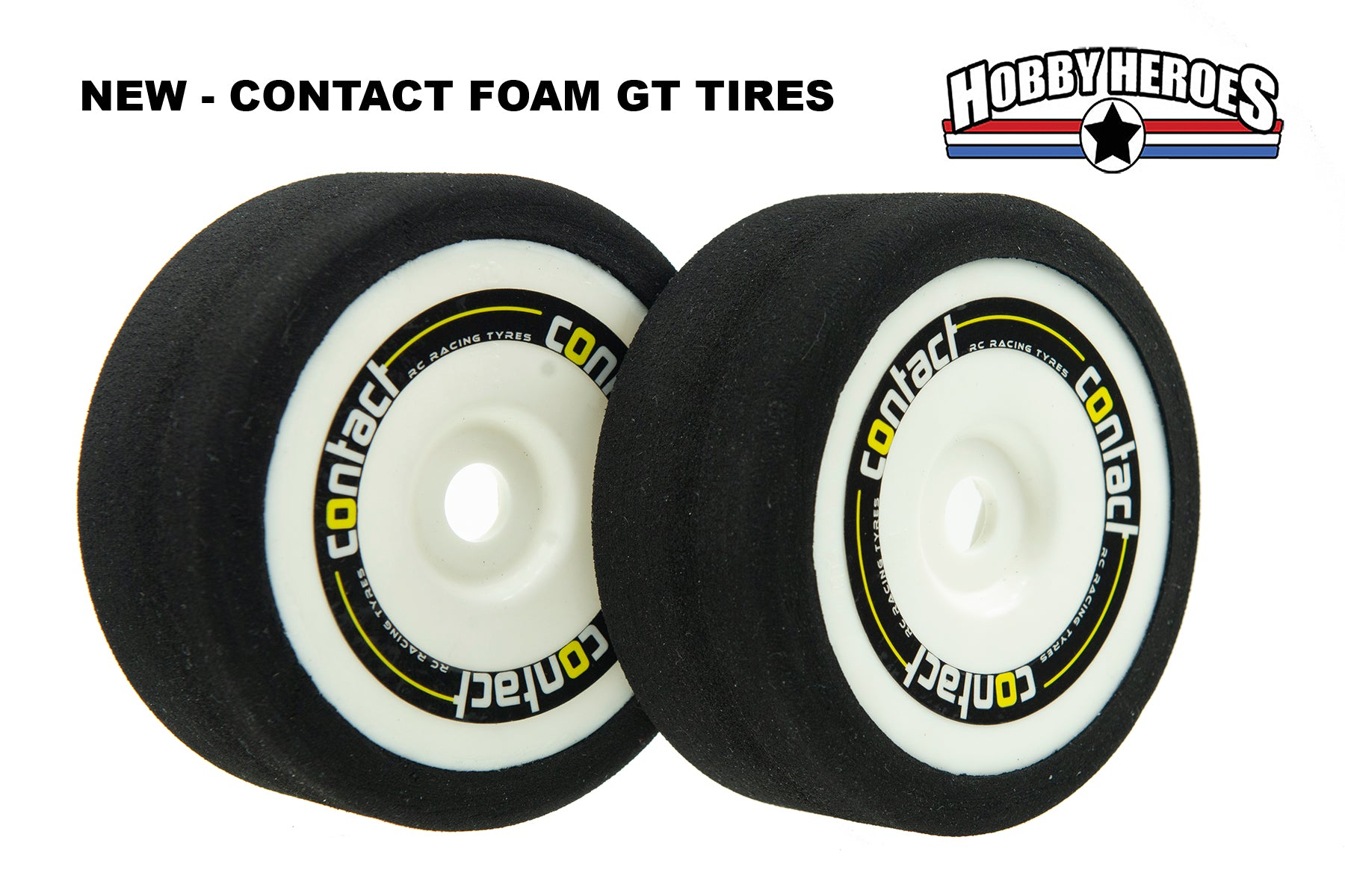 Contact 1/8 On Road Foam GT Tires JB40G GRP style