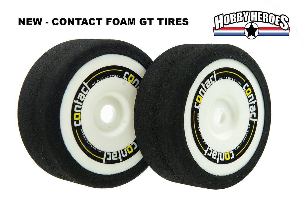 Contact GT8/Rally 1/8 On Road Foam GT Tires CONJB40G GRP style Drag