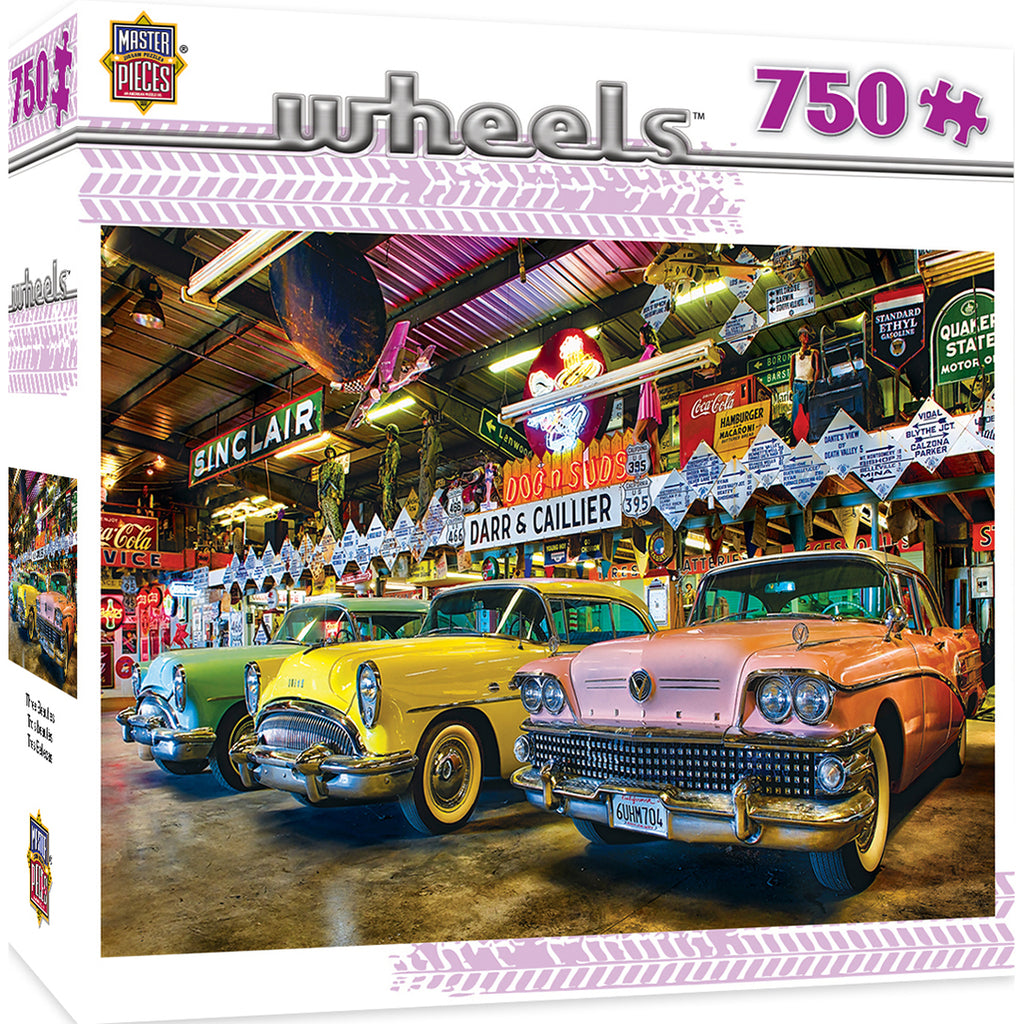 Masterpieces Puzzle Wheels Three Beauties - 750 Piece Jigsaw Puzzle by Linda Berman MST31689