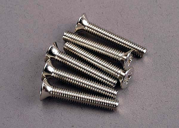Traxxas Screws, 4x25mm Countersunk Machine (6) TRA3168