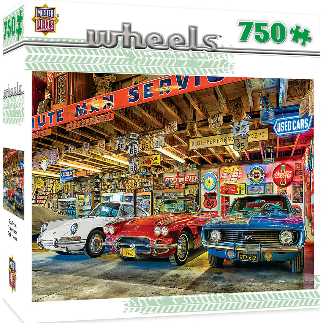 Masterpieces Puzzle Wheels Triple Threat 750 Piece Jigsaw Puzzle by Linda Berman MST31690W