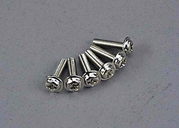 Traxxas Screws 3x12mm Washerhead Machine (6) TRA3186