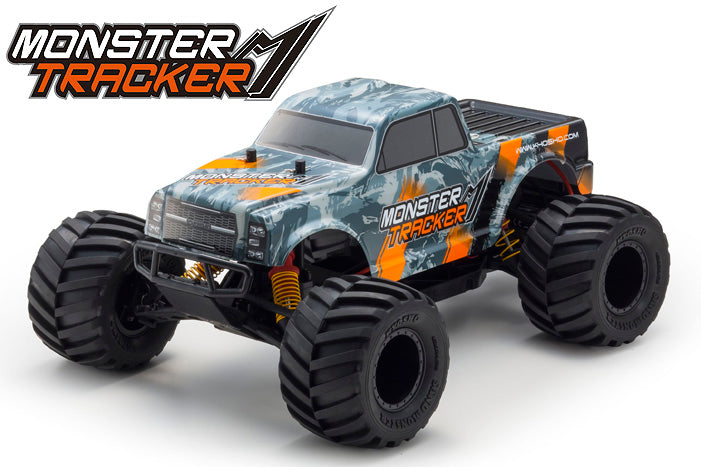 Kyosho Monster Tracker Orange EP 2WD MT Ready Set KYO34403T2B