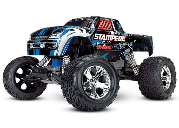 Traxxas Stampede: 1/10 Scale Monster Truck. Ready-to-Race® w TQi 2.4GHz Radio System and XL-5 ESC (fwd/rev). Includes: 7-Cell NiMH 3000mAh Traxxas Battery TRA36054-1-BLUEX
