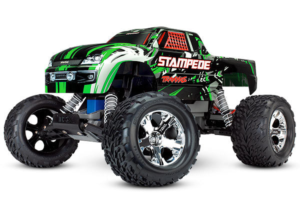 Traxxas Stampede 1/10 Scale Monster Truck RTR w TQ 2.4GHz Radio System and XL-5 ESC (Fwd/Rev). Includes: 7-Cell NiMH 3000mAh Traxxas Battery TRA36054-1-GRN