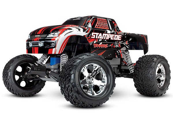 Traxxas Stampede: 1/10 Scale Monster Truck. Ready-to-Race® with TQi 2.4GHz Radio System and XL-5 ESC (Fwd/Rev). TRA36054-4-RED