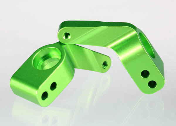 Traxxas Stub Axle Carriers, Rustler/Stampede/Bandit (2), 6061-T6 Aluminum (Green-Anodized)/ 5x11mm Ball Bearings (4) TRA3652G