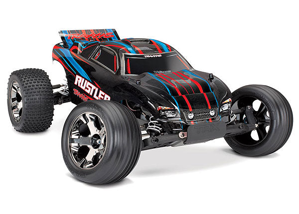 Traxxas Rustler VXL 1/10 Scale Stadium Truck with TQi Traxxas Link Enabled 2.4GHz Radio System & Traxxas Stability Management (TSM) TRA37076-4-RED