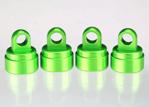Traxxas Shock Caps Aluminum (Green-Anodized) (4) (Fits All Ultra Shocks) TRA3767G