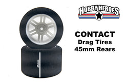 Contact 1/10th Rear 45mm 30 Shore DRAG Tires CONJD30RA