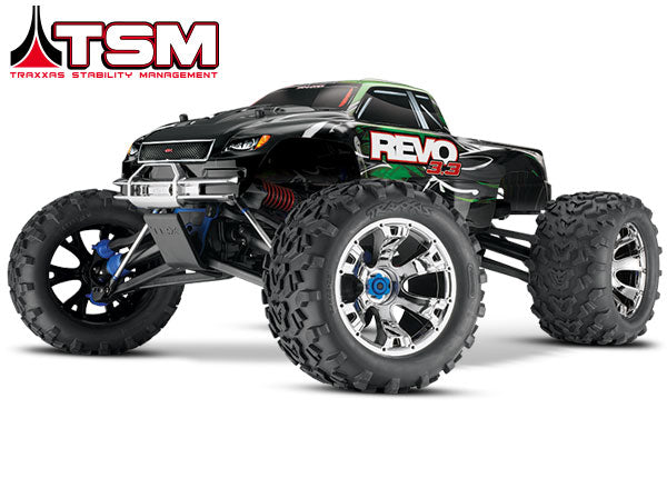 Traxxas Revo 3.3: 1/10 Scale 4WD Nitro-Powered Monster Truck (with Telemetry Sensors) with TQi 2.4GHz Radio System, Traxxas Link Wireless Module, and Traxxas Stability Management (TSM) TRA53097-3
