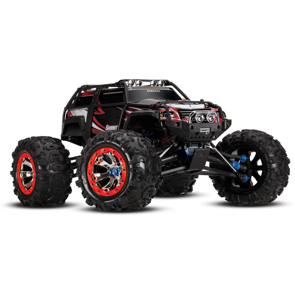 Traxxas Summit: 1/10 Scale 4WD Electric Extreme Terrain Monster Truck with TQi Traxxas Link Enabled 2.4GHz Radio System TRA56076-4-R6