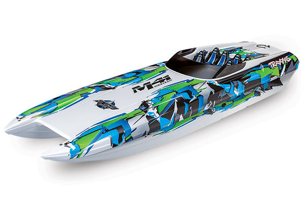 Traxxas DCB M41 Widebody: Brushless 40' Race Boat. Fully Assembled, RTR TQi Traxxas Link™ Enabled 2.4GHz Radio System, Castle Creations 540XL Brushless Motor, VXL-6s Marine ESC, (TSM) Factory-Applied Graphics  TRA57046-4-GRN