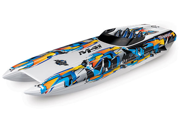 Traxxas DCB M41 Widebody: Brushless 40' Race Boat. Fully Assembled, RTR TQi Traxxas Link™ Enabled 2.4GHz Radio, Castle Creations 540XL Brushless Motor, VXL-6s Marine ESC, (TSM) Factory-Applied Graphics  TRA57046-4-ORNG