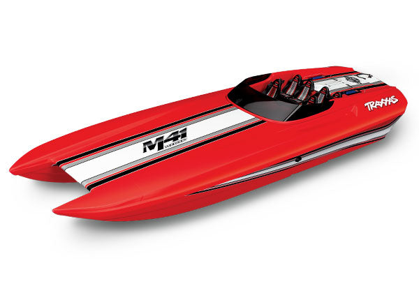 Traxxas DCB M41 Widebody Brushless 40' Race Boat w TQi Traxxas Link Enabled 2.4GHz Radio System & Traxxas Stability Management (TSM) TRA57046-4-RED