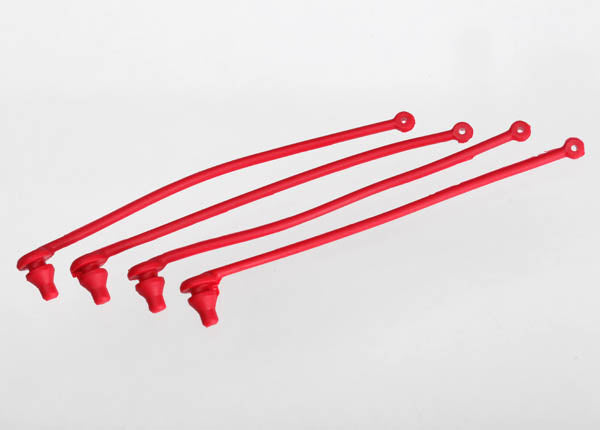 Traxxas Body Clip Retainer, Red (4) TRA5752
