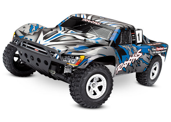 Traxxas Slash 1/10-Scale 2WD Short Course Racing Truck w TQ 2.4GHz Radio System TRA58024-BLUEX