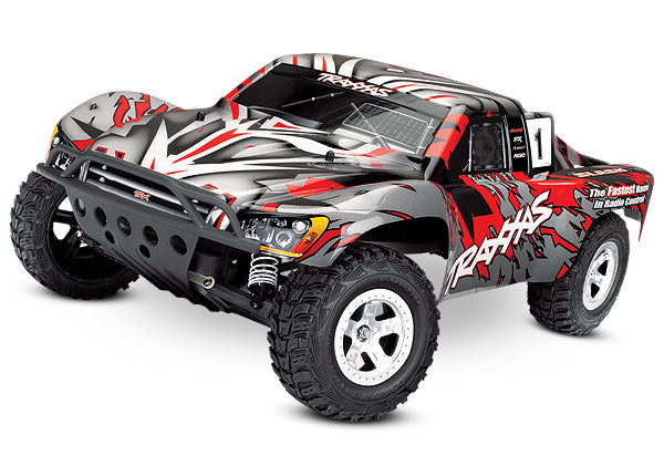 Traxxas Slash 1/10-Scale 2WD Short Course Racing Truck w TQ 2.4GHz Radio System TRA58024-REDX