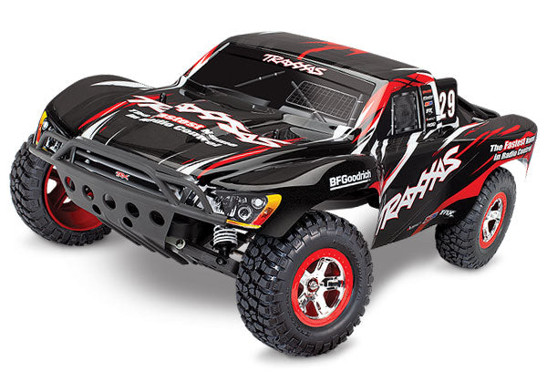 Traxxas Slash: 1/10-Scale 2WD Short Course Racing Truck RTR w TQ 2.4GHz Radio System XL-5 ESC (Fwd/Rev). Includes: 7-Cell NiMH 3000mAh Traxxas Battery TRA58034-1-BLK