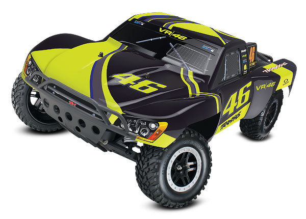 Traxxas Slash: 1/10-Scale 2WD Short Course Racing Truck. Ready-To-Race® w TQ 2.4GHz Radio System and XL-5 ESC (fwd/rev). Includes: 7-Cell NiMH 3000mAh Traxxas® Battery TRA58034-1-VR46
