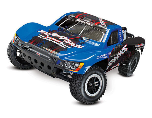 Traxxas Slash: 1/10-Scale 2WD Short Course Racing Truck TQ 2.4GHz Radio System On-Board Audio TRA58034-2-BLUE