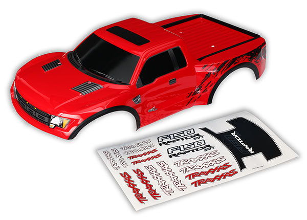 Traxxas Body Ford Raptor Red (Painted Decals Applied) TRA5815R