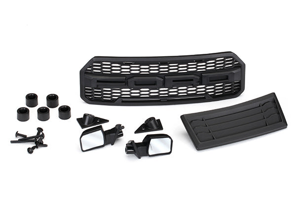 Traxxas Body Accessories Kit, 2017 Ford Raptor® (Includes Grill, Hood Insert, Side Mirrors, & Mounting Hardware) TRA5828