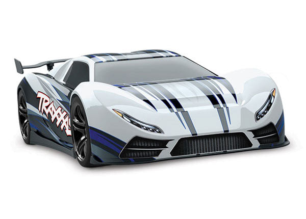 Traxxas XO-1 1/7 Scale AWD Supercar. Ready-To-Race w TQi 2.4GHz Radio System and Traxxas Link Wireless Module, Castle Creations 6s Brushless Power System, and TSM TRA64077-3-WHT